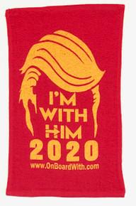 **KAG RAG** - I'M WITH HIM 2020 - PRESIDENT DONALD TRUMP - 2020 ELECTION - RALLY TOWEL