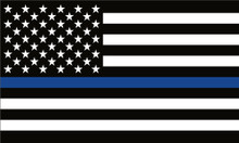 Thin Blue Line USA Flag - Law Enforcement / Police Tribute - Quality Bumper Sticker Decal