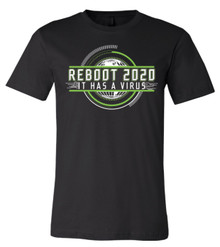 Reboot 2020 It Has A Virus - Bella+Canvas Men's Black T-shirt