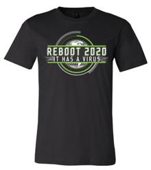 Reboot 2020 It Has A Virus - Bella+Canvas Men's Black T-shirt