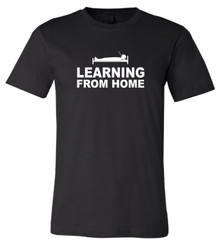 Learning From Home - Bella+Canvas Men's Black T-shirt