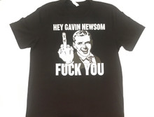 Hey Gavin Newsom FUCK YOU! - Men's Black T-shirt