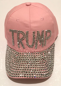 Trump Pink Bling Hat - PRESIDENT DONALD TRUMP - 2020 ELECTION - Quality Bling Cap / Hat