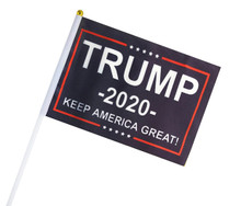 President Donald Trump - Keep America Great - 2020 Election - Mini Flag With Flag Stick