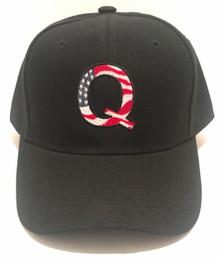 Q QANON WWG1WGA USA FLAG DESIGN - PRESIDENT DONALD TRUMP 2020 ELECTION - Ball Cap / Hat