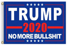 President Donald Trump - No More Bullshit BLUE - 2020 Election - 3 x 5 Foot Flag With Grommets