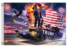 President Donald Trump (TANK) - 3 x 5 Foot Flag With Grommets