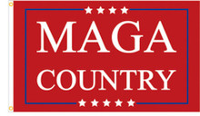 MAGA Country - President Donald Trump 2024 - 3 x 5 Foot Flag With Grommets