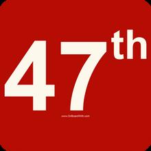 47th - Trump 2024 - 4  Inch Political Bumper Sticker