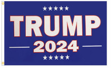 President Donald Trump - 2024 - Blue 3 x 5 Foot Flag With Grommets