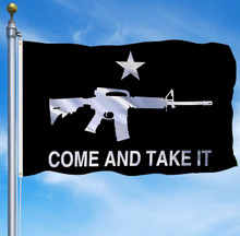 Come And Take It - Black 3 x 5 Foot Flag With Grommets