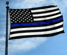 Blue Line USA Flag - Back The Blue - Thin Blue Line - Support Law Enforcement - Pro-Police - 3 x 5 Foot Flag With Grommets