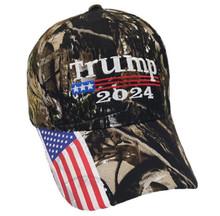 TRUMP 2024 - PRESIDENT DONALD TRUMP - Woodland Camo Lightweight Durable Quality Ball Cap / Hat