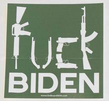 FUCK BIDEN - Anti-Biden 4.25  Inch Political Bumper Sticker