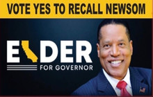 Larry Elder for Governor - Vote YES to Recall Newsom 4 x 6  Inch Political Bumper Sticker