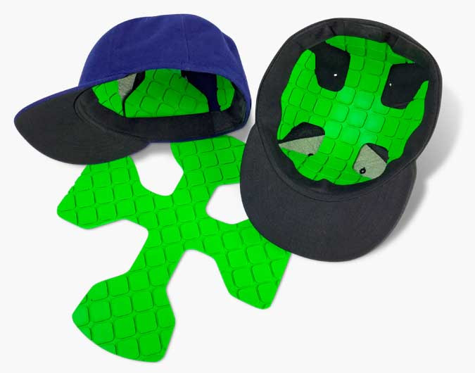 0d81130232d90 Protective Dome Baseball Hat Inserts   Liners