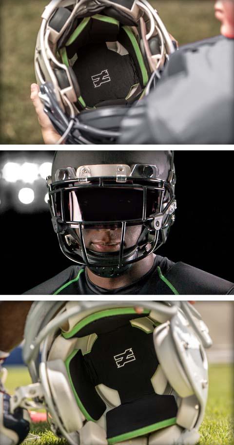 b710b460fc7 Custom Gyro Protective Football Helmet Inserts & Liners