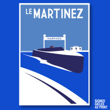 LE MARTINEZ BATEAU - GICLEE PRINT