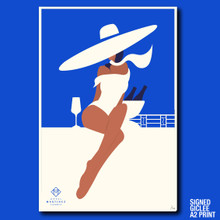 CHAMPAGNE IN THE PENTHOUSE - GICLEE PRINT