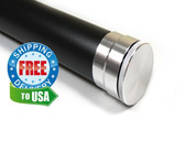 This rod tube is manufactured in the USA from a high-grade aluminum alloy. Black wrinkle finish, 5pc aluminum rod case.