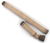 Two piece switch grip set with super grade cork and high density cork composite inlays. Switch/Spey fly rod grip set