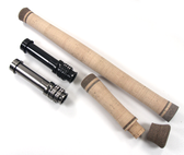 Two piece switch grip set with Alps All Metal reel seat. Switch/Spey fly rod handle kit w/Deco rings