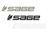 Sage Logo Thermal Die Cut Stickers