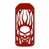 2005-2009 Suzuki Boulevard S50  - Powdercoat Skull Flame Radiator Grill Guard Cover