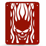 2000-2006 Kawasaki Vulcan 800 Drifter VN800 - Powdercoat Skull Flame Radiator Grill Guard Cover