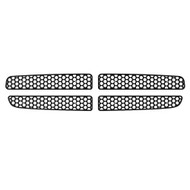 Grille Insert Guard Circle Punch Black Powdercoat fits: 1997-2004 Dodge Dakota