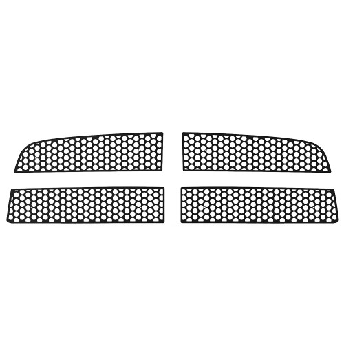 Grille Insert Guard Circle Punch Black Powdercoat fits: 2009-2012 Dodge Ram  1500
