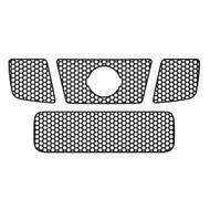 Grille Insert Guard Circle Punch Black Powdercoat fits: 2004-2007 Nissan Armada