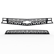 Grille Insert Guard Vertical Flame Black Powdercoat fits: 2010-2013 Chevy Camaro