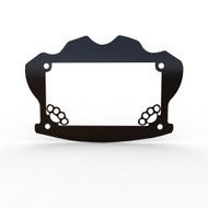Brass Knuckle Motorcycle Motorcycle License Plate Frame Cover - 1 Piece