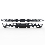 Grille Insert Guard Horizontal Flame Black Powdercoat fits: 2007-2013 Chevy Avalanche