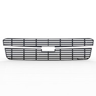 Grille Insert Guard Horizontal Billet Black Powdercoat fits: 2002-2006 Chevy Avalanche