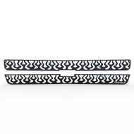 Grille Insert Guard Vertical Flame Black Powdercoat fits: 2000-2006 Chevy Suburban
