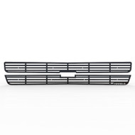 Grille Insert Guard Horizontal Billet Black Powdercoat fits: 2001-2002 Chevy Silverado LD