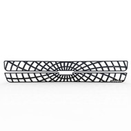 Grille Insert Guard Spiderweb Black Powdercoat fits: 2001-2002 Chevy Silverado LD