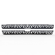 Grille Insert Guard Vertical Flame Black Powdercoat fits: 1999-2000 Chevy Silverado LD