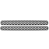 Grille Insert Guard Circle Punch Black Powdercoat fits: 1998-2004 Chevy S10