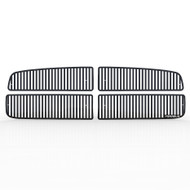 Grille Insert Guard Vertical Billet Black Powdercoat fits: 2002-2005 Dodge Ram 1500