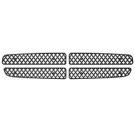 Grille Insert Guard Mesh Punch Black Powdercoat fits: 1997-2003 Dodge Durango