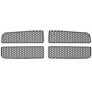 Grille Insert Guard Circle Punch Black Powdercoat fits: 2003-2005 Dodge Ram 2500