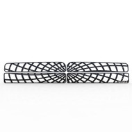 Grille Insert Guard Spiderweb Black Powdercoat fits: 1994-2002 Dodge Ram 2500
