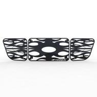 Grille Insert Guard Horizontal Flame Black Powdercoat fits: 1998-2000 Ford Ranger 4WD