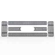 Grille Insert Guard Vertical Billet Black Powdercoat fits: 2008-2010 Ford Superduty
