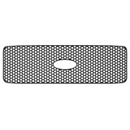 Grille Insert Guard Circle Punch Black Powdercoat fits: 1999-2004 Ford Superduty