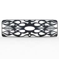Grille Insert Guard Horizontal Flame Black Powdercoat fits: 1999-2004 Ford Superduty