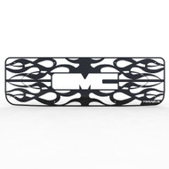 Grille Insert Guard Horizontal Flame Black Powdercoat fits: 1994-1998 GMC C3500
